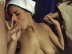 Titfuck cum, Two tits, Two tit, Two threesomes, Two handjobs, Two handjob