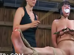 Mud, Lesbian gag, Gag ball, Ball gagged, Ball bondage, Bondage gagged