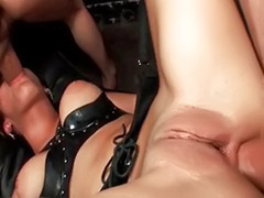 Threesome brunette, Shave blowjob, Nasty blowjob, Nasty bitch anal, Goes, Brunette threesome