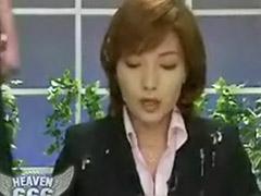 Newscasters, Newscaster, Men on men, Japanese newscaster, Gangbang asian, Asians gangbang